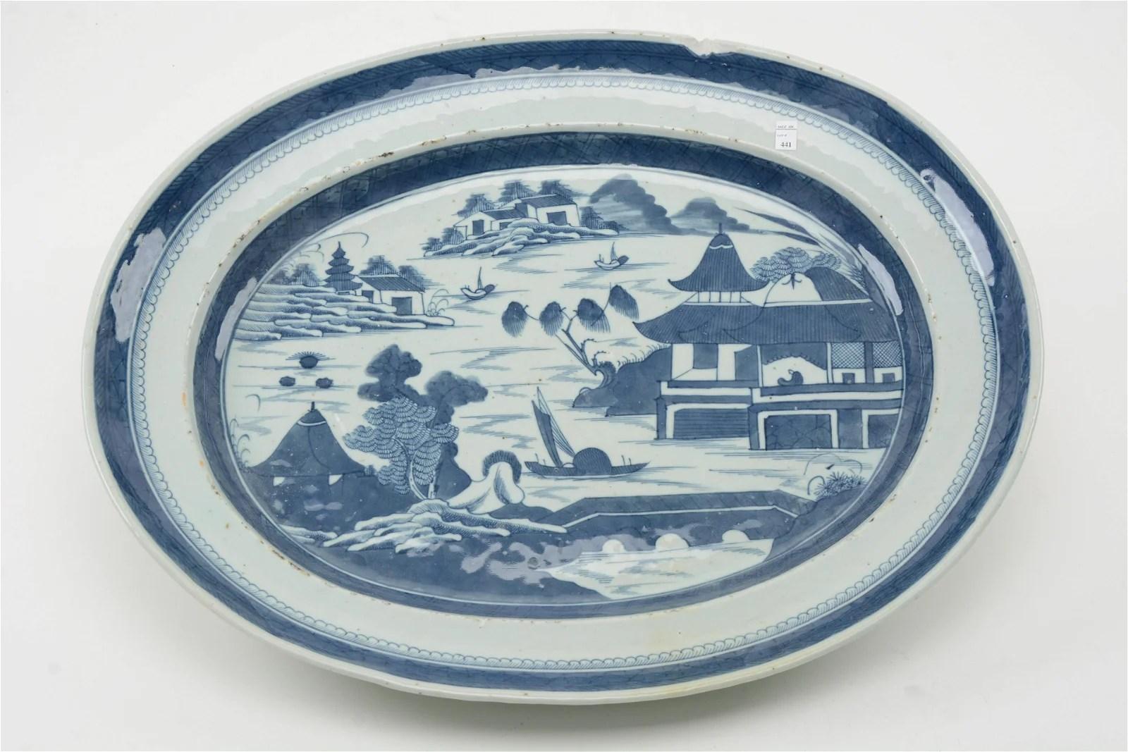 Oversized 19th Century Chinese Export Platter