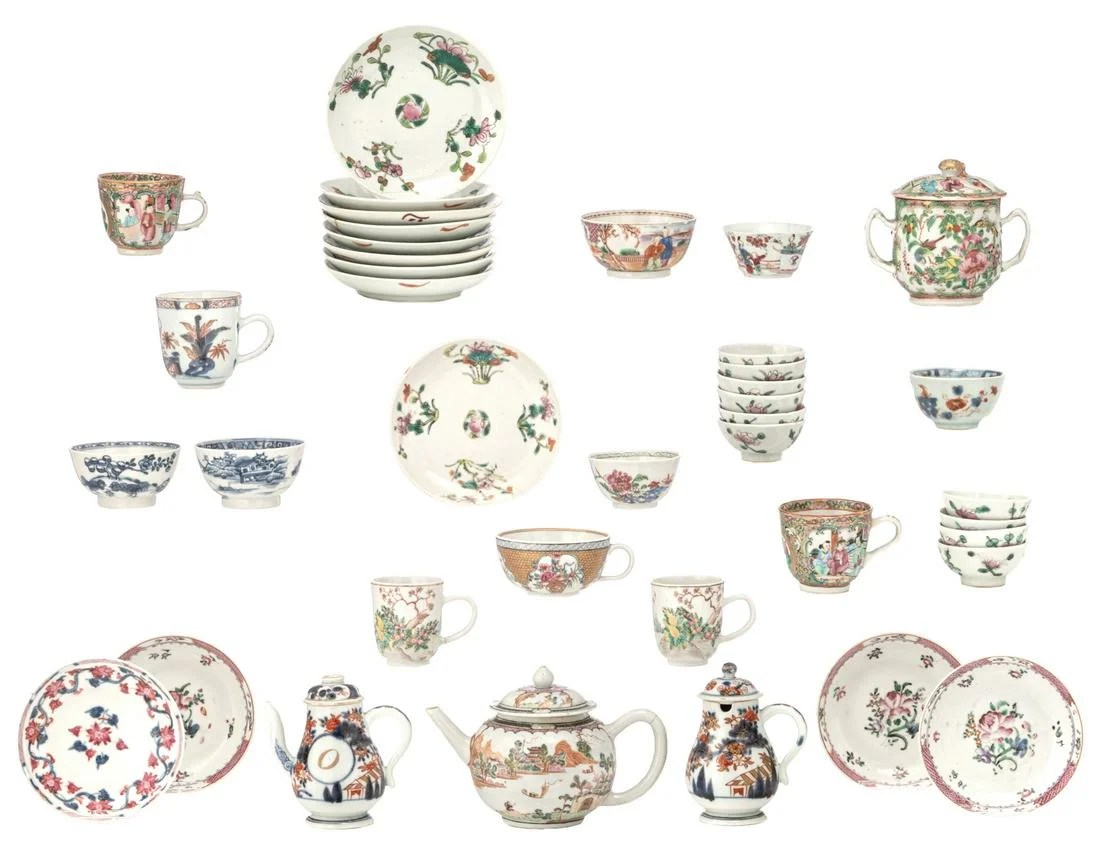 Various famille rose, blue and white, polychrome and