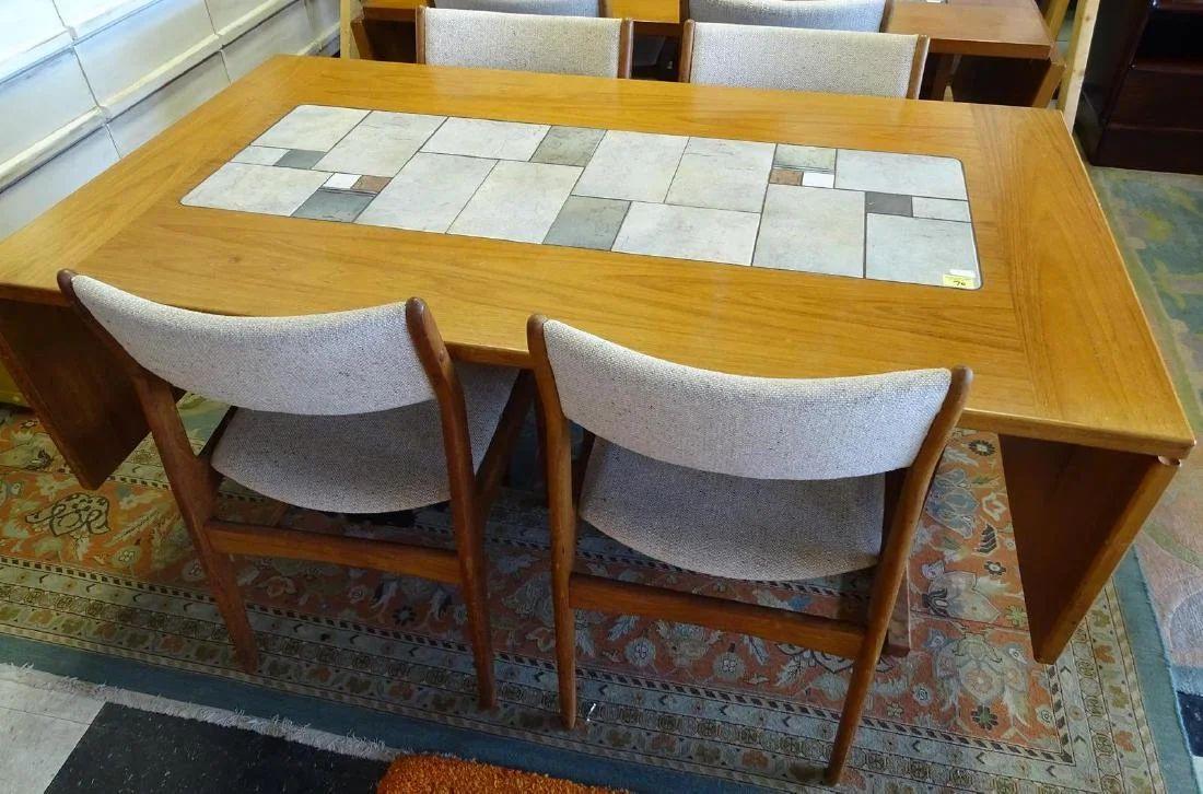 gangso mobler danish teak with tile top dining table