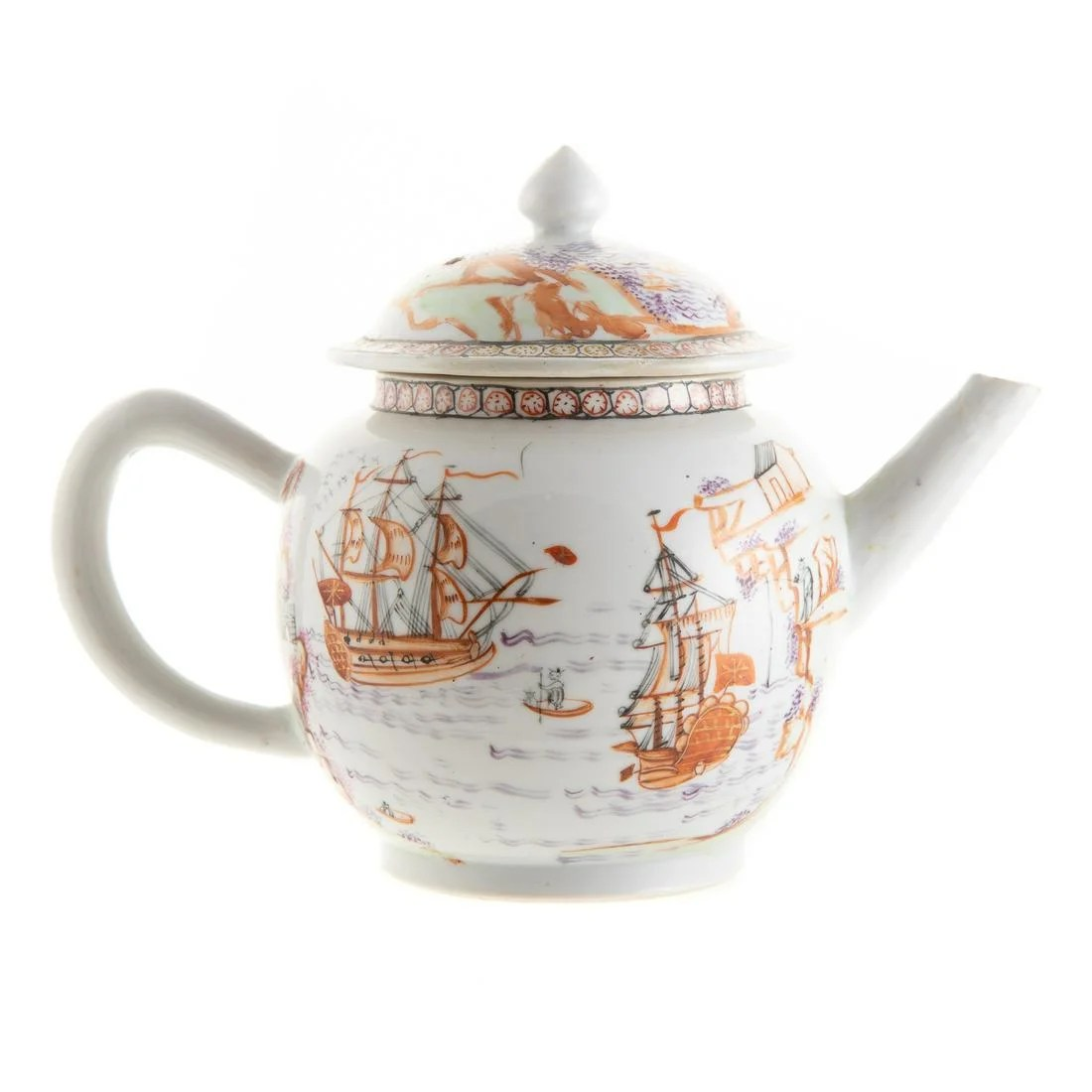 Rare Chinese Export Famille Rose Teapot