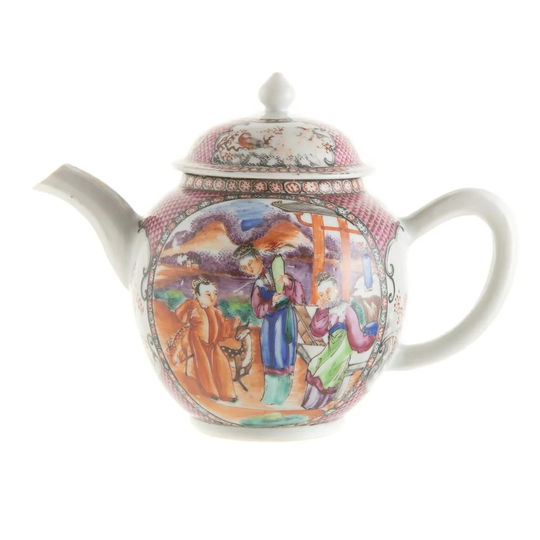 Chinese Export Teapot in the Mandarin Palette