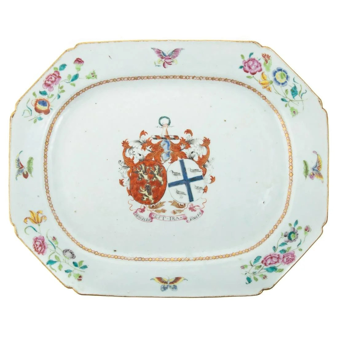 Chinese Export Porcelain Armorial Platter