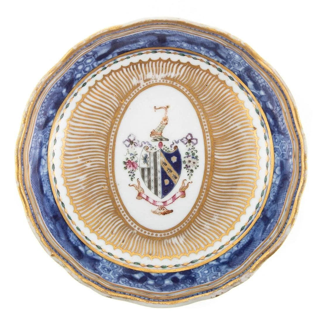 Chinese Export Armorial Teacup Saucer