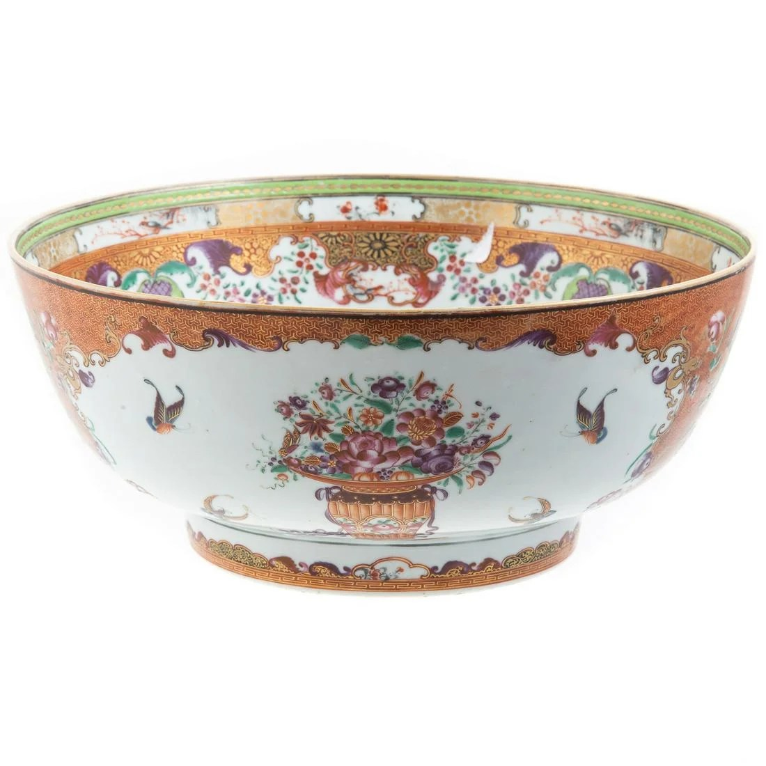 Chinese Export Famille Rose Punch Bowl