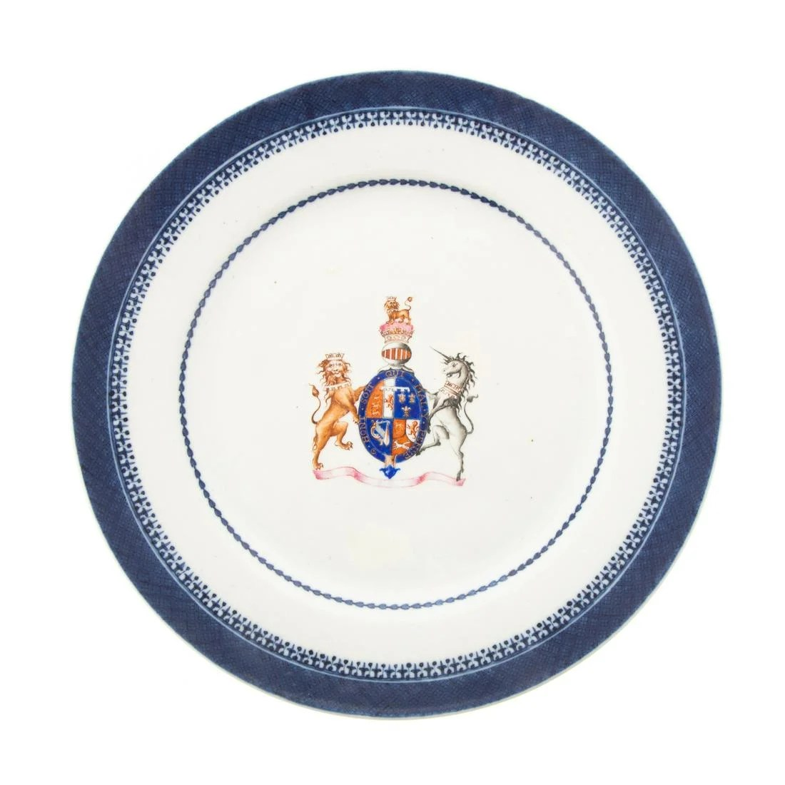 Chinese Armorial Porcelain Plate