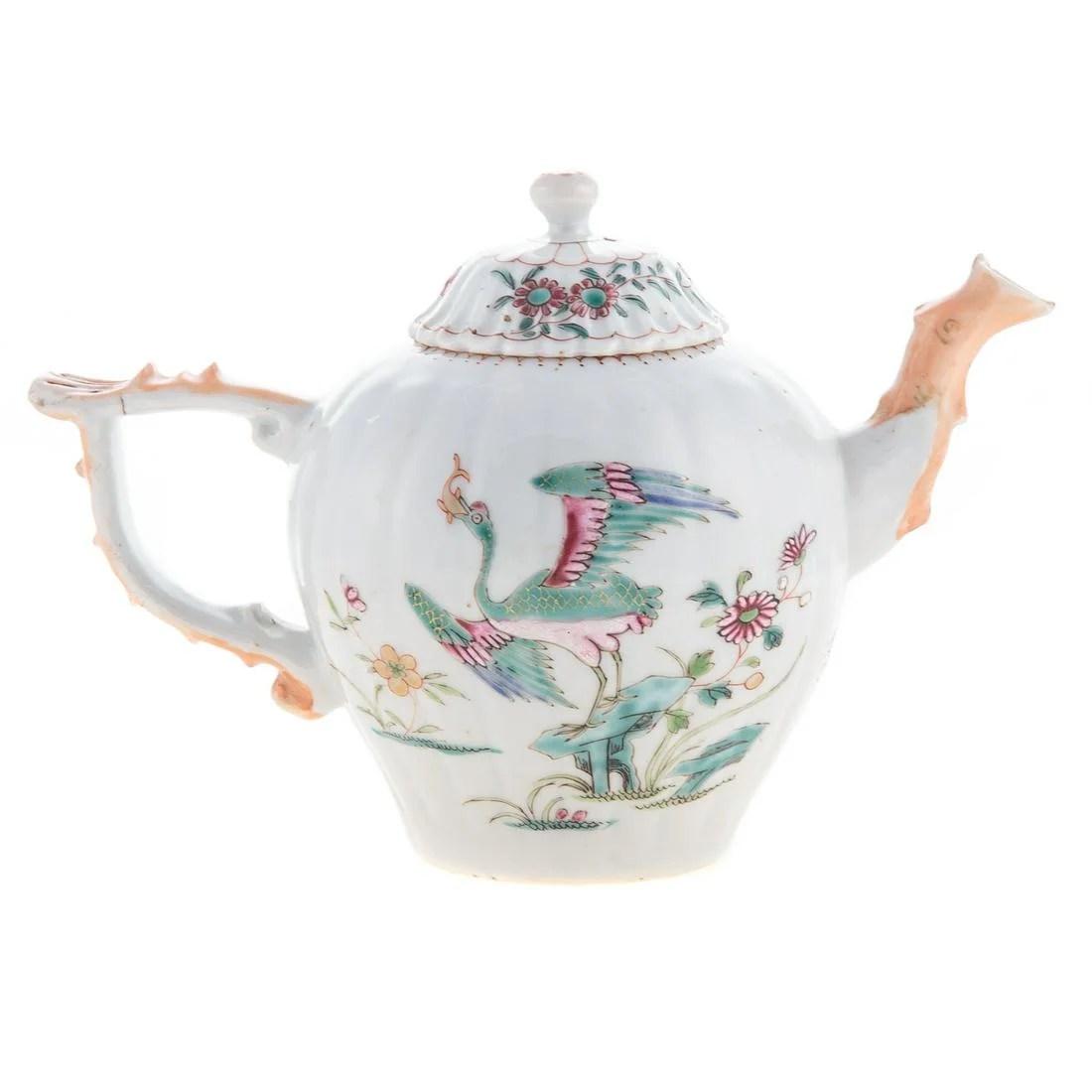 Chinese Export Famille Rose Globular Teapot