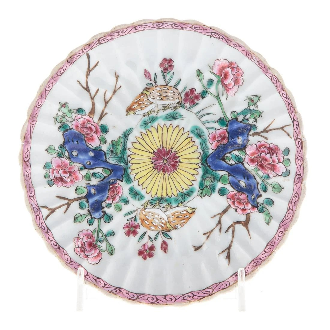 Chinese Export Famille Rose Teapot Stand