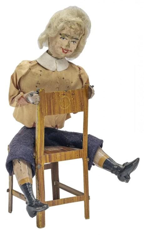 Ferdinand Martin Boy Seated in Chair