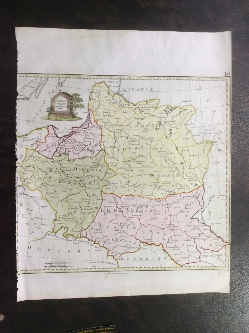Stackhouse  Antique Map of Poland   Prussia  1783