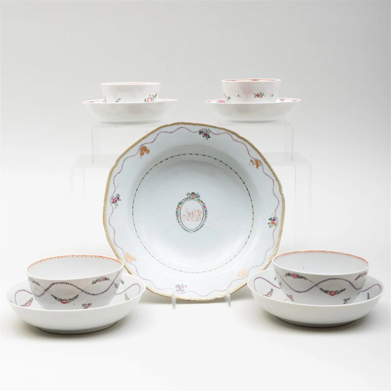 Group of Chinese Export Porcelain Dishes