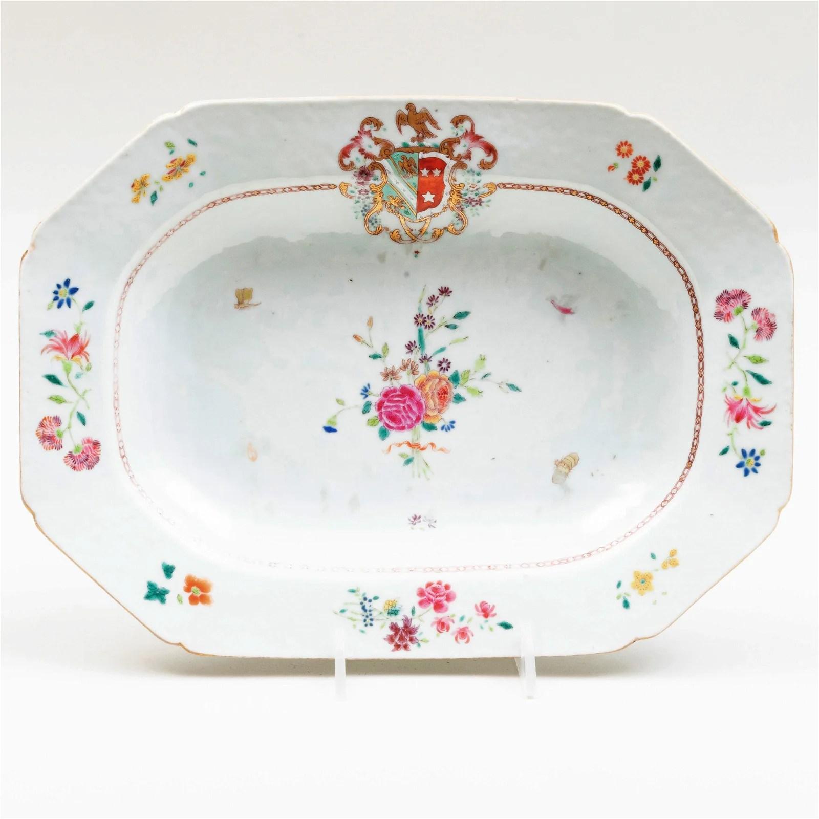 Chinese Export Porcelain Armorial Tureen Stand and a