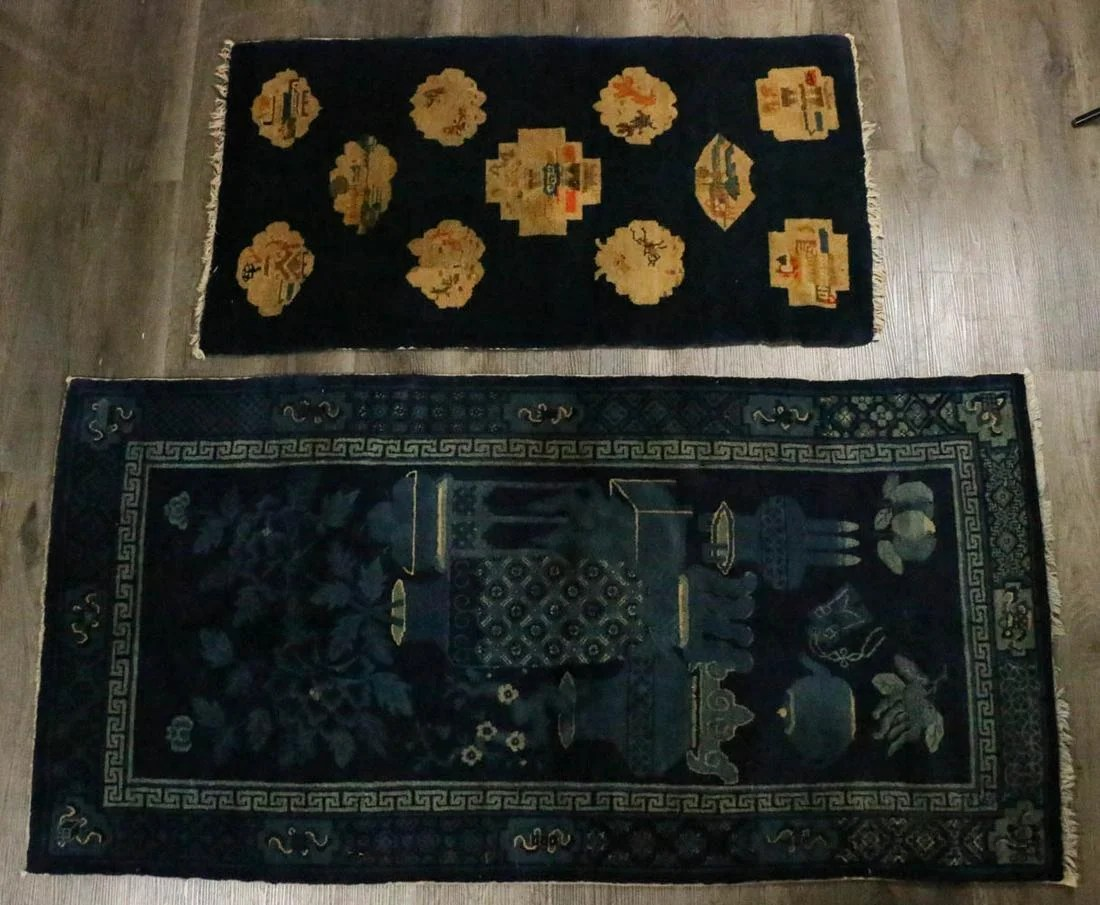 A CHINESE NINGXIA AND BAOTOU CARPETS