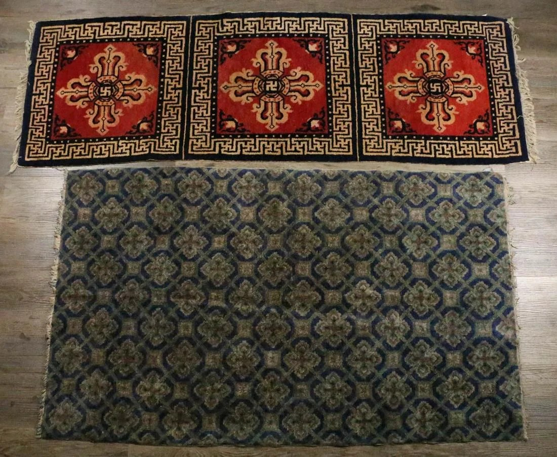 TWO CHINESE CARPETS