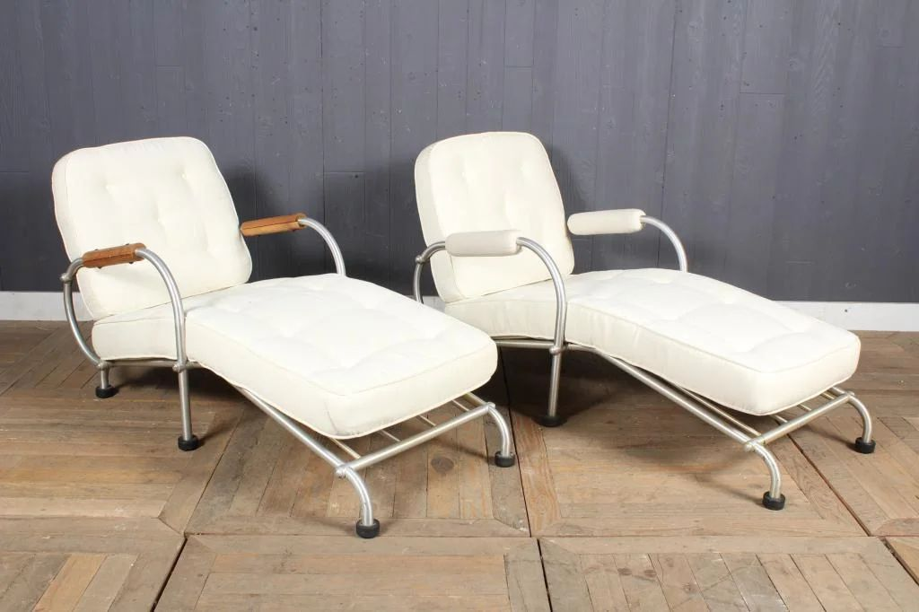 pair warren mcarthur for namco chaise lounges