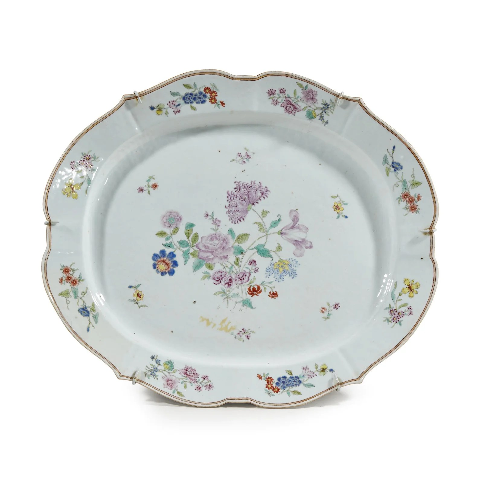 A Chinese export porcelain famille rose-decorated