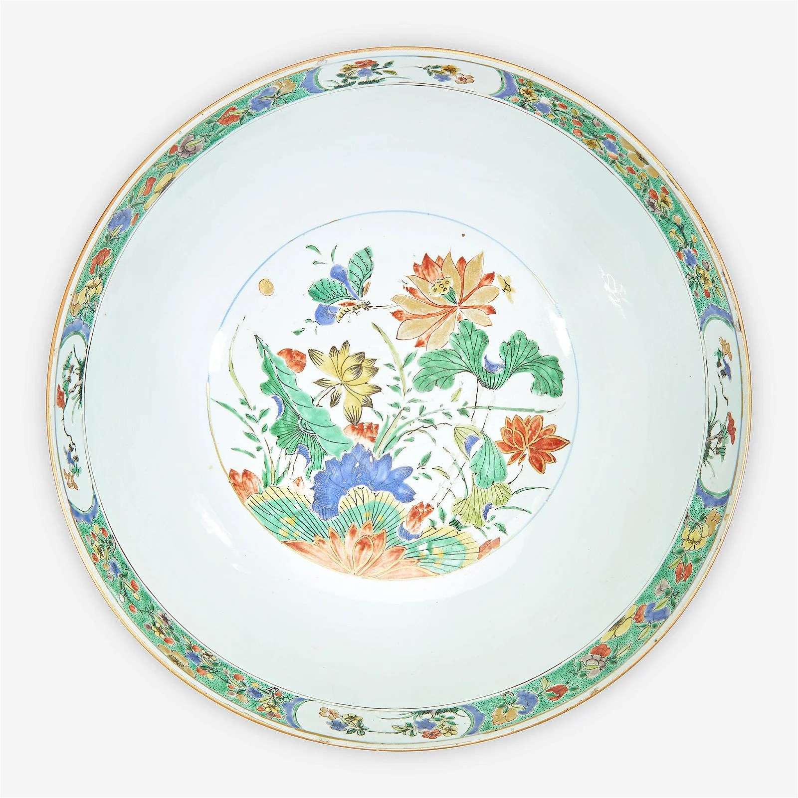 A Chinese export famille verte-decorated porcelain