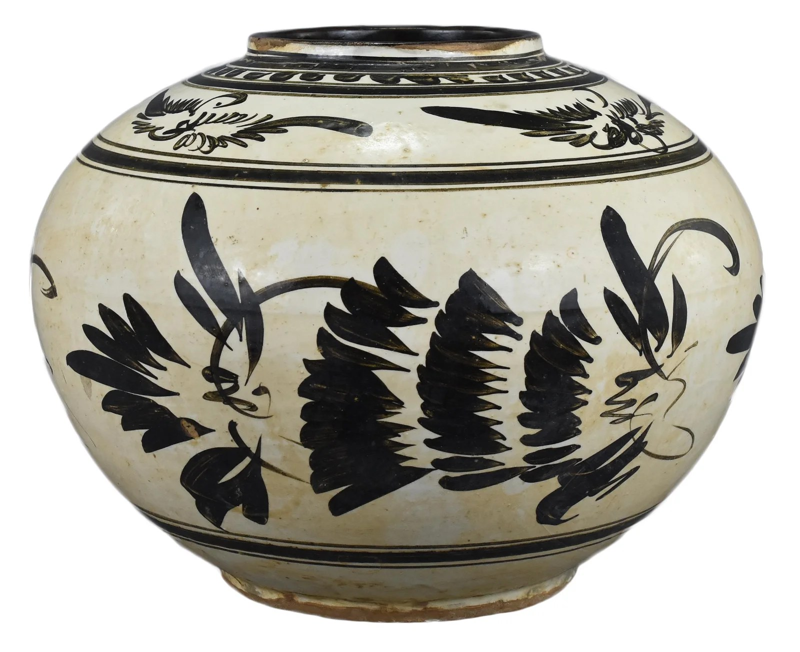 A Large Chinese Cizhou type Stoneware Jar.