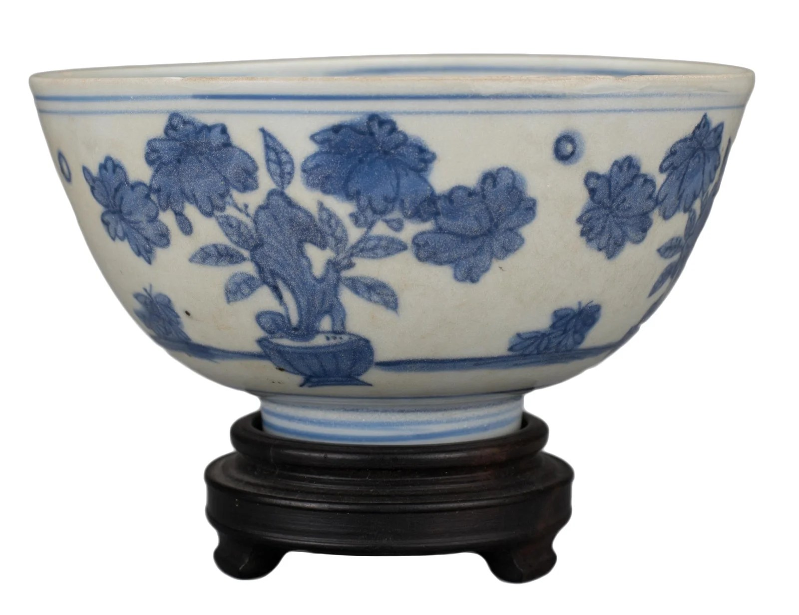 CHINESE BLUE AND WHITE PORCELAIN BOWL, MING DYNASTY