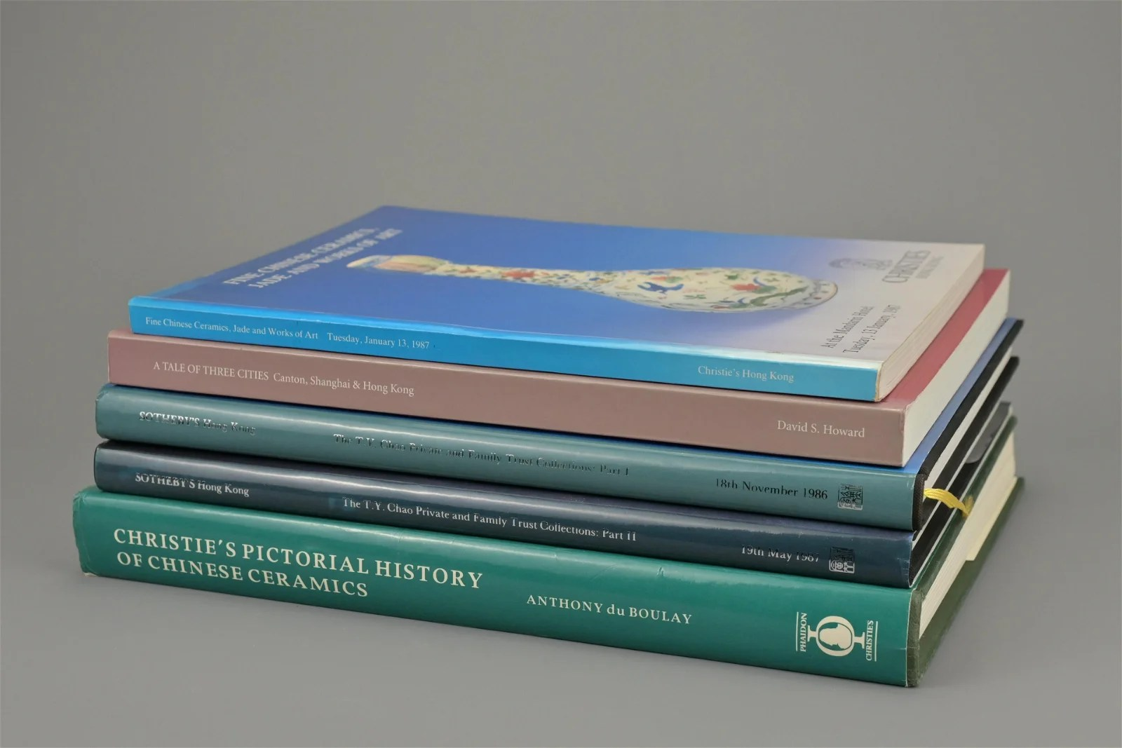 REFERENCE BOOKS AND CATALOGUES ON CHINESE WORKS OF ART