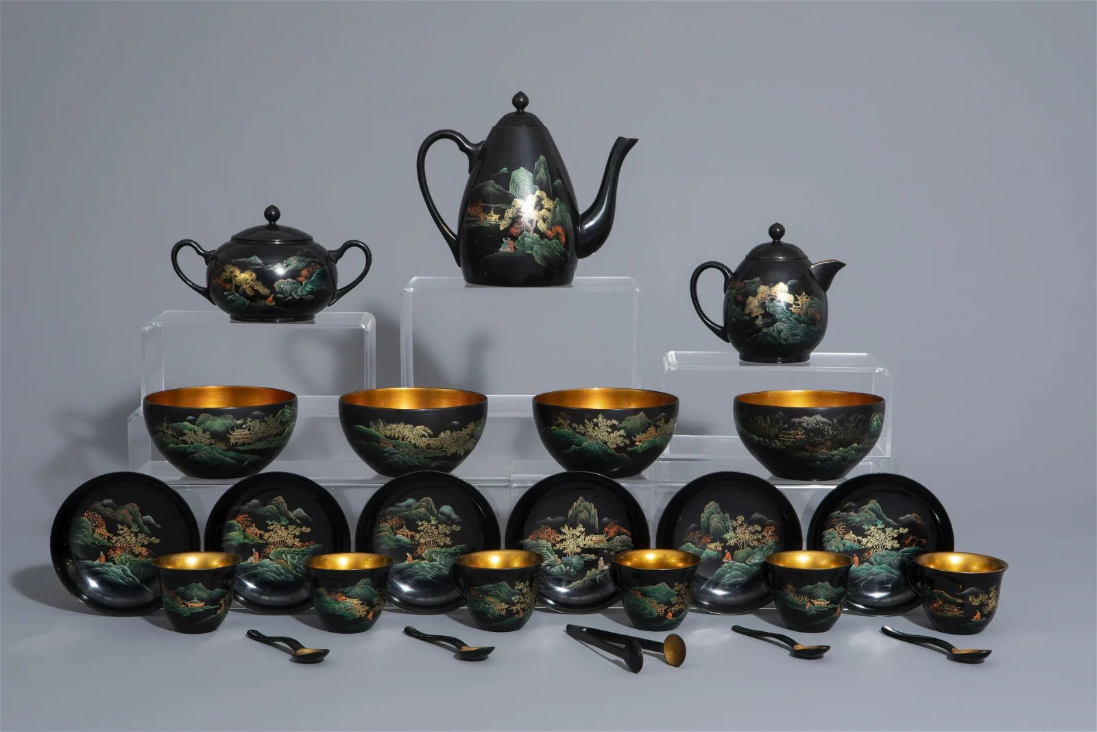 An extensive Chinese Foochow lacquer Shen Shao'an style