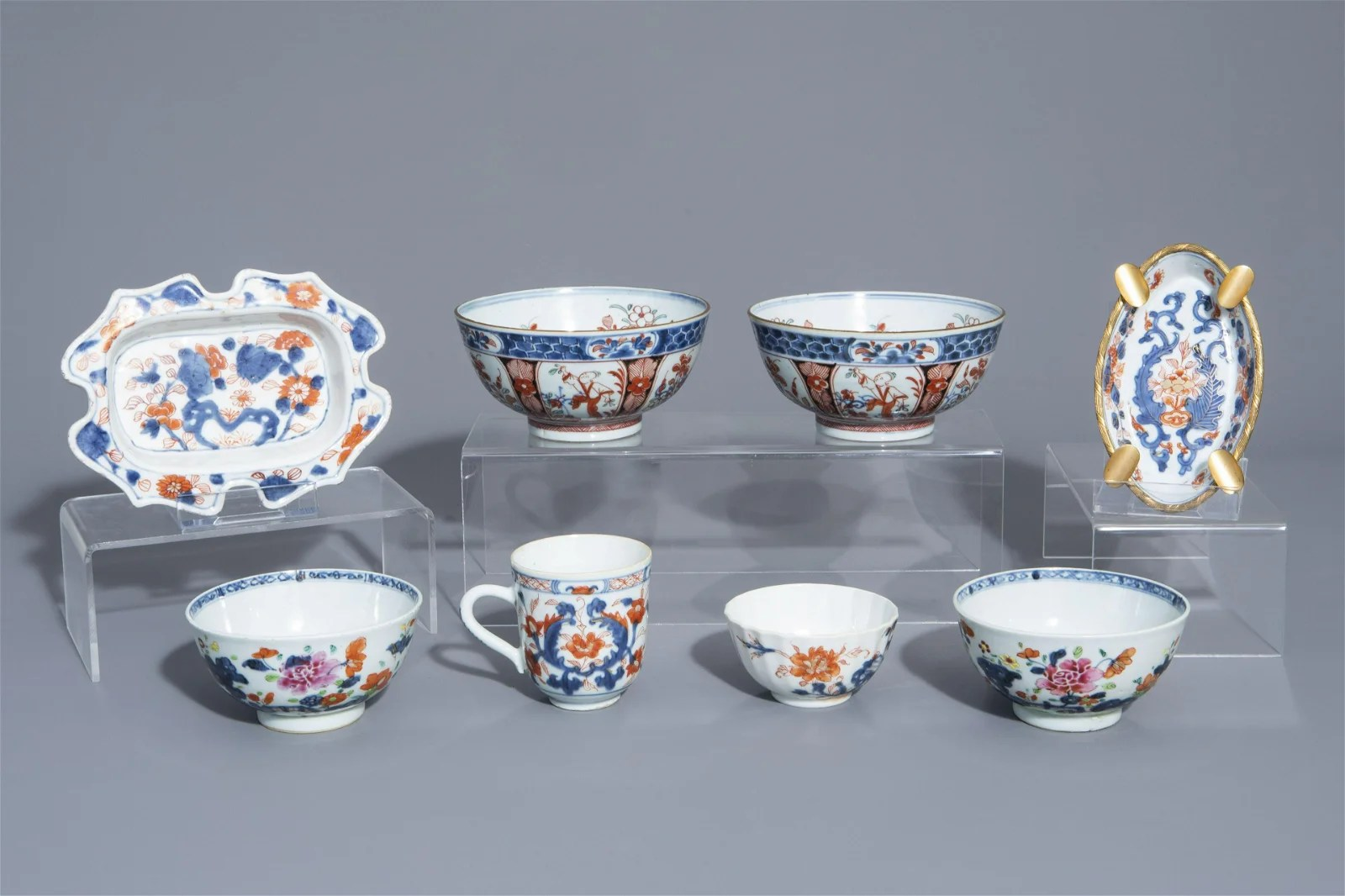 A collection of Chinese famille rose, Imari style and