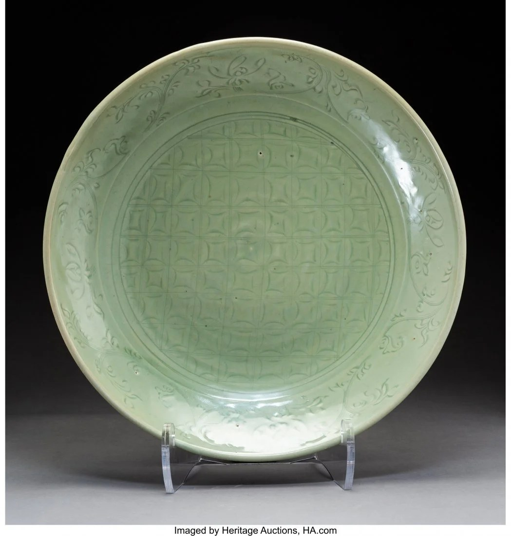 78166: A Chinese Celadon Porcelain Charger, Ming Dynast