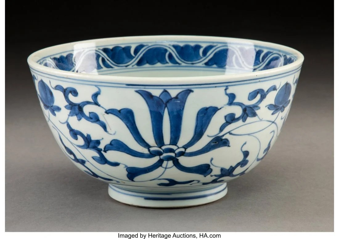 78095: A Chinese Blue and White Porcelain Bowl, Ming Dy