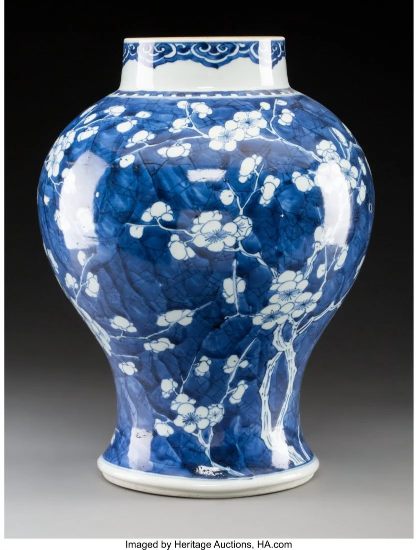 78120: A Chinese Blue and White Porcelain Hawthorne Bal