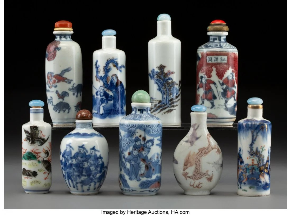 78430: A Group of Nine Chinese Blue and White Porcelain