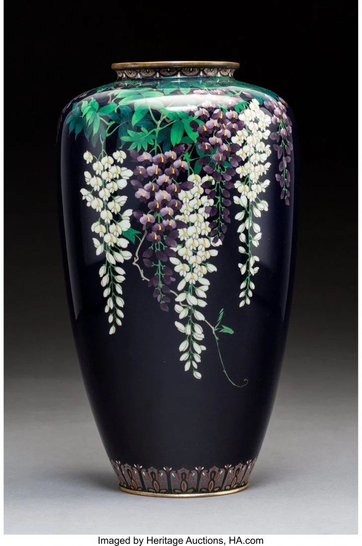 78409: An Ota Hyozo Cloisonné Vase, Meiji Period