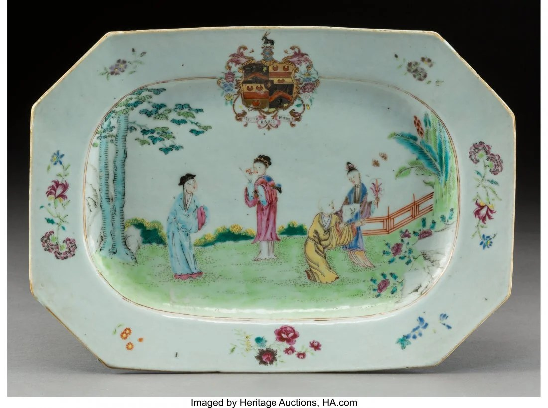 A Chinese Export Enameled and Partial Gilt Porce