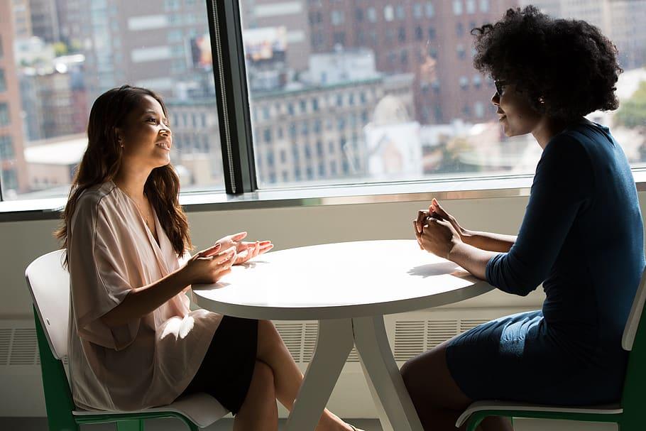 business, meeting, smile, desk, office, talking, friends, people, window, discuss