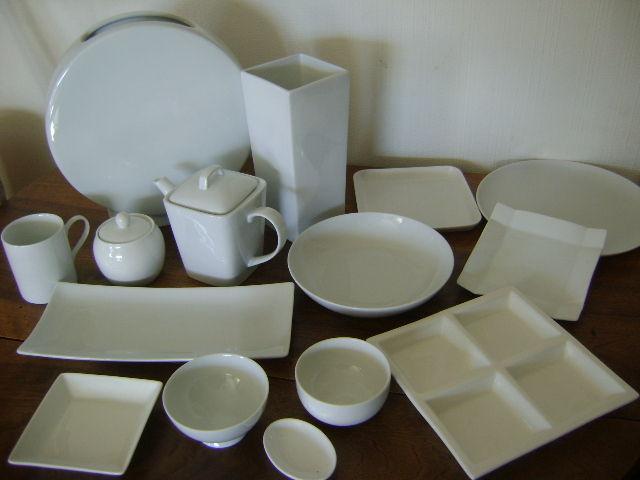 un echantillon de ma porcelaine blanche