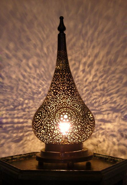 Medina Touch Moroccan Brass Table Light Table Lamp