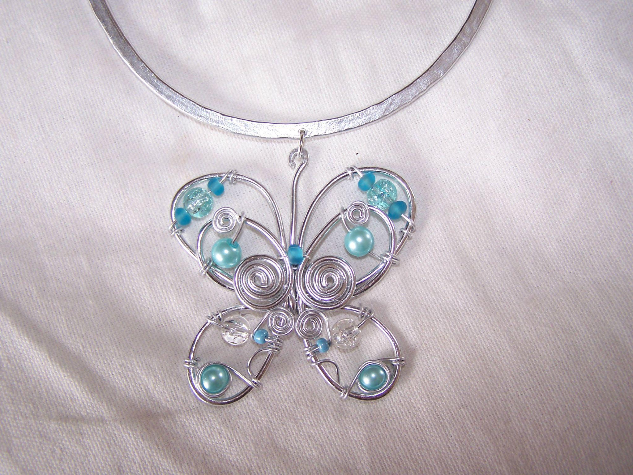 butterfly turquoise les bijoux de maelou