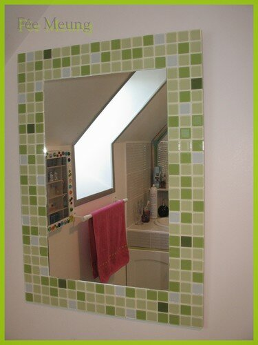 miroir mosaique Salle de bain des filles