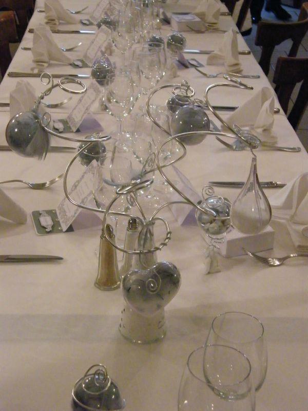 decoration mariage gris et blanc