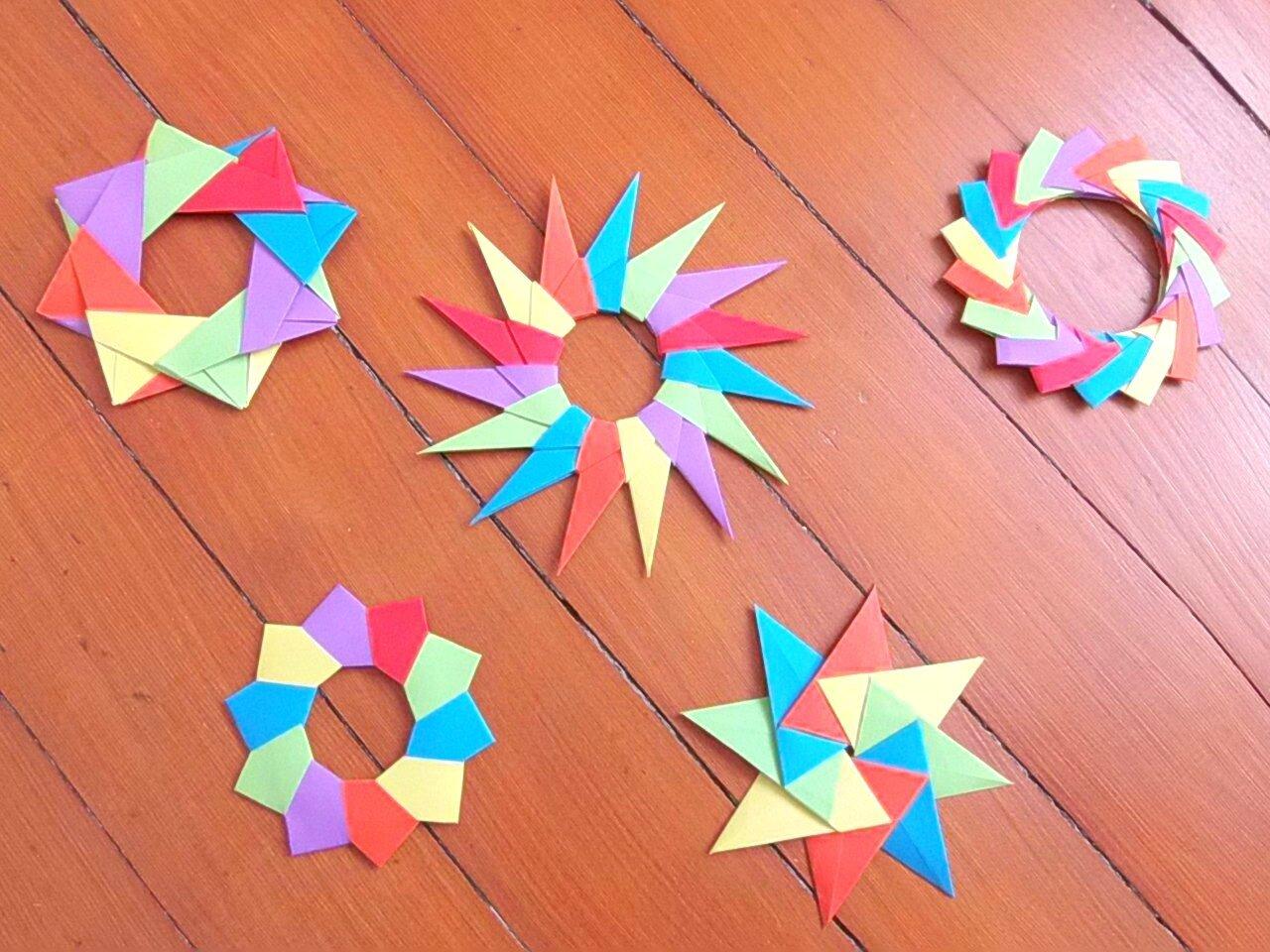 etoiles en origami modulaire les