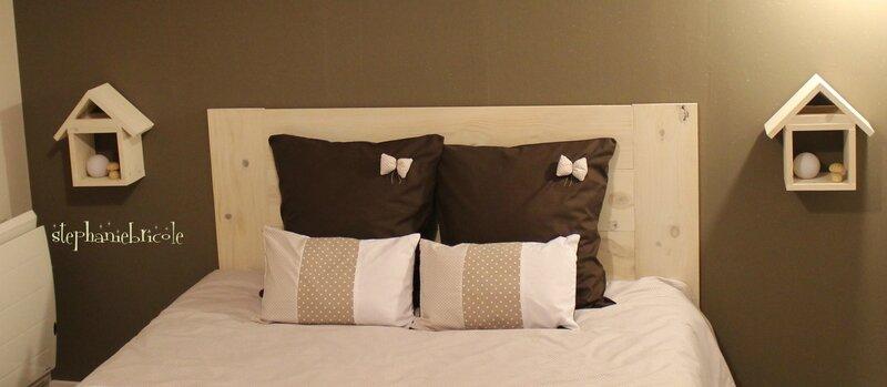 une tete de lit en bois tres facile a faire