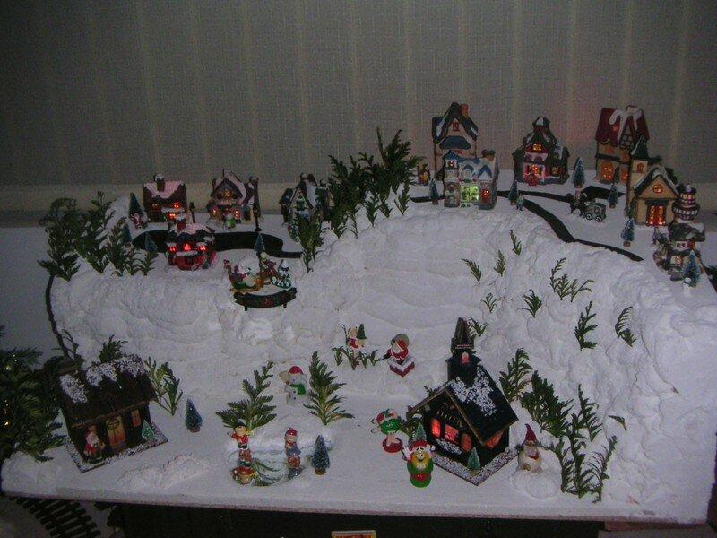 deco noel decoration miniature du village de noel fait