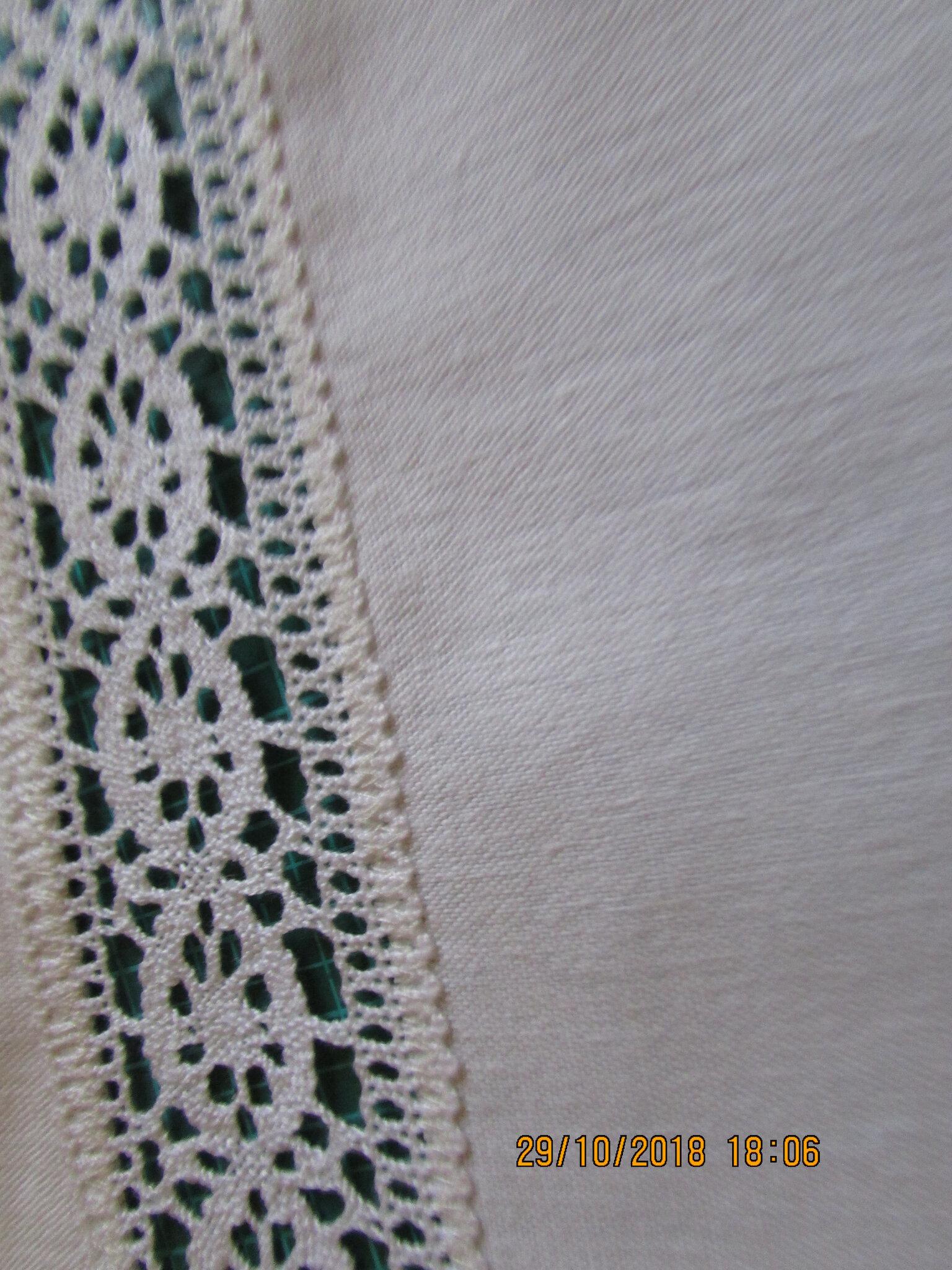 2 rideaux brise bise linge ancien