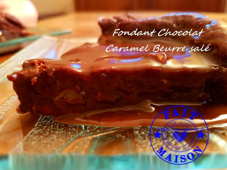 fondant au chocolat caramel beurre sale