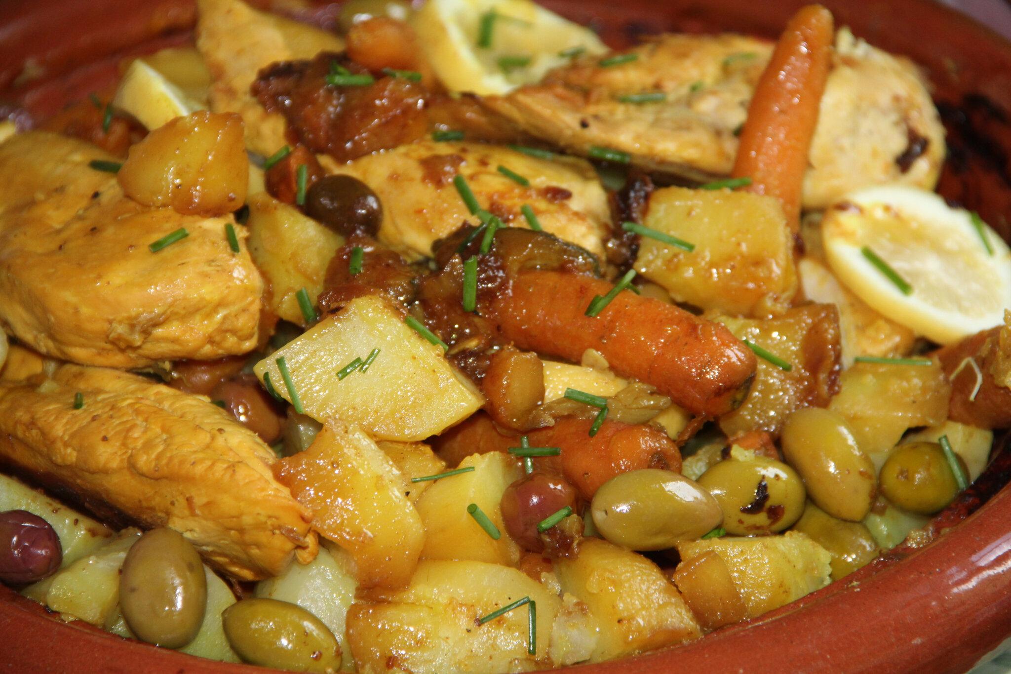 tajine poulet pommes de terre