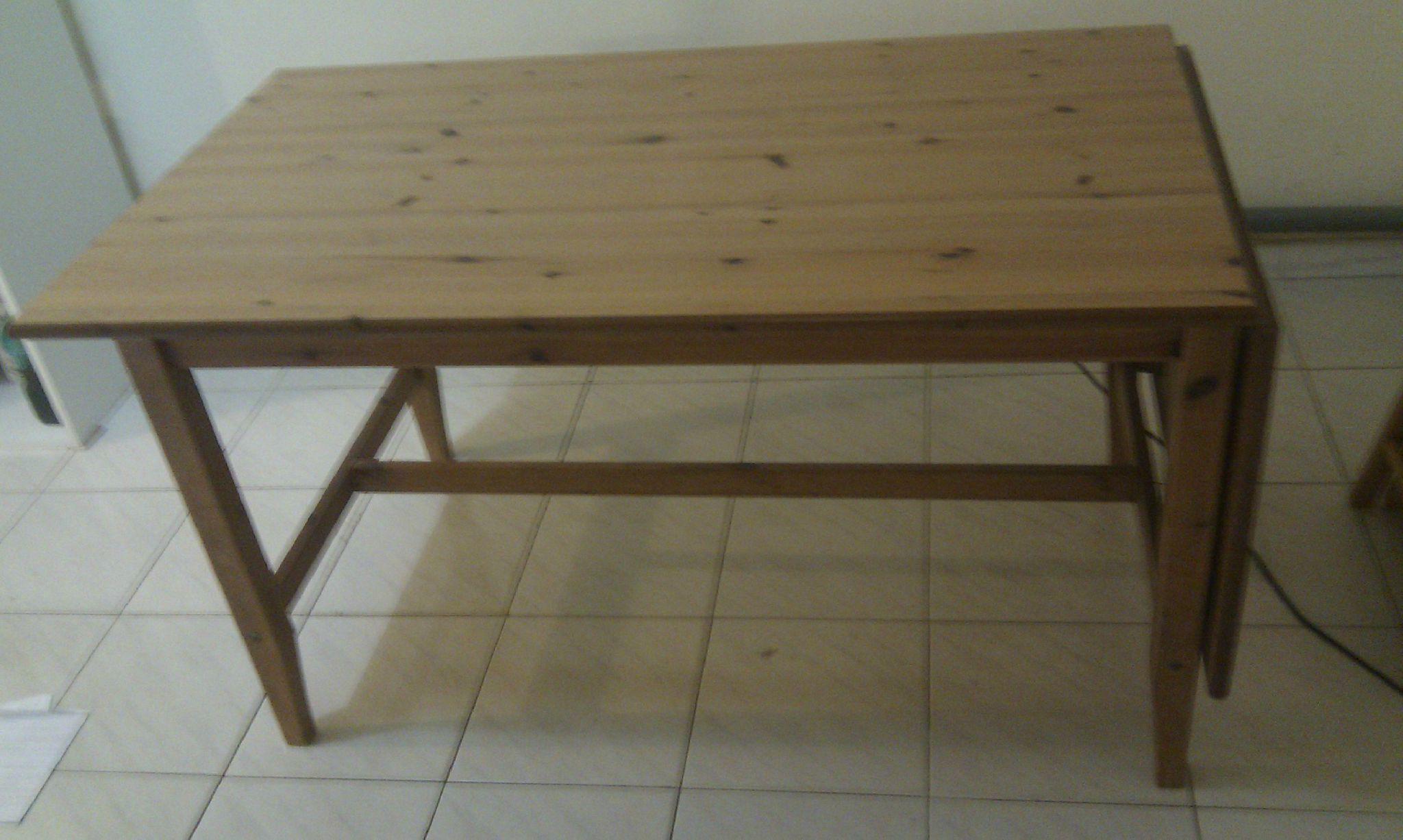 table en bois avec rallonge ikea 45