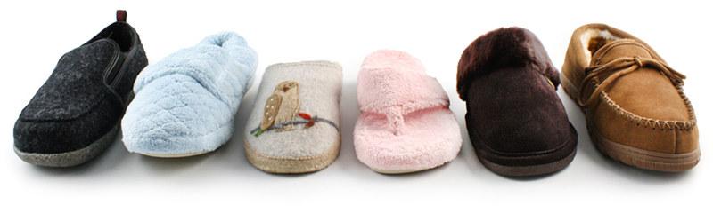 women's slippers and men's slippers
