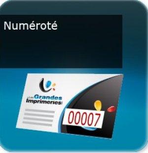 impression Prospectus ou document numéroté avec numéro incrémenté