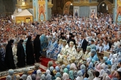 В праздник Почаевской иконы Божией Матери митрополит Киевский Онуфрий совершил Литургию в Почаевской лавре