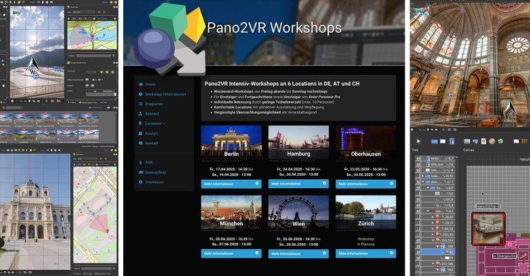 Pano2VR Workshops 2020 Website