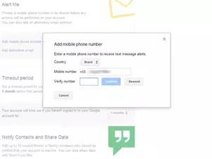 Google avisa por SMS e e-mail um mês antes de a conta ser considerada inativa Foto: Reprodução