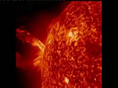 A Agência espacial registrou a erupção na quarta-feira Foto: BBCBrasil.com